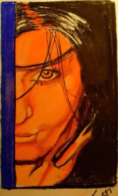 Self portrait pastel on vellum